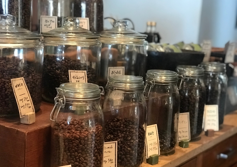量り売りされているコーヒー豆